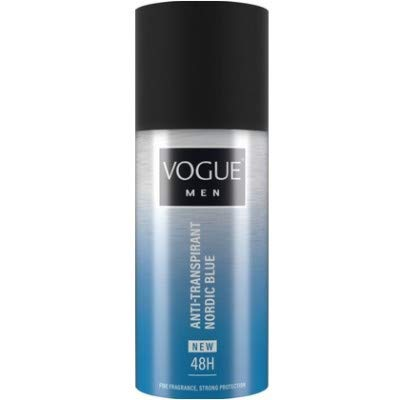 Vogue Men Nordic Blue - Deodorant - 3 x 150 ml - Voordeelverpakking