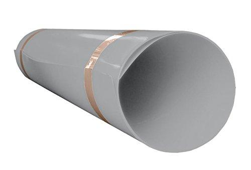 A+H Hart PVC Kunststoffplatte 2000x1000x1 mm - Farbe Hellgrau