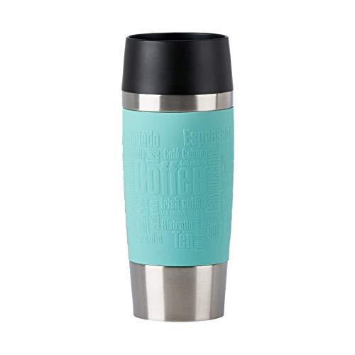 Emsa N2012900 Travel Mug Thermo-/Isolierbecher aus Edelstahl   0,36 Liter   4h heiß   8h kalt   BPA-Frei   100% dicht   auslaufsicher   spülmaschinengeeignet   360°-Trinköffnung  Mintgrün