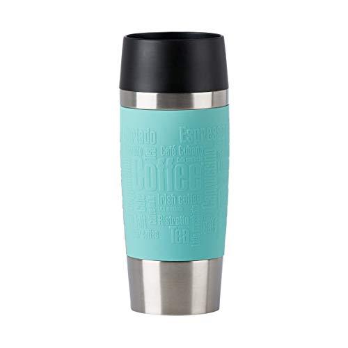 Emsa N2012900 Travel Mug Thermo-/Isolierbecher aus Edelstahl | 0,36 Liter | 4h heiß | 8h kalt | BPA-Frei | 100% dicht | auslaufsicher | spülmaschinengeeignet | 360°-Trinköffnung |Mintgrün