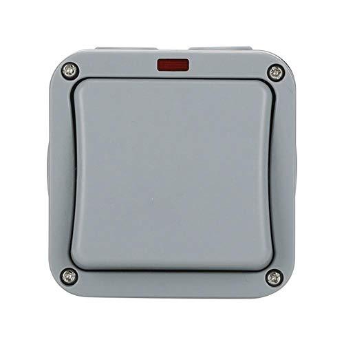 josietomy Interruptor impermeable IP65, interruptor de toma de corriente eléctrica de pared,...