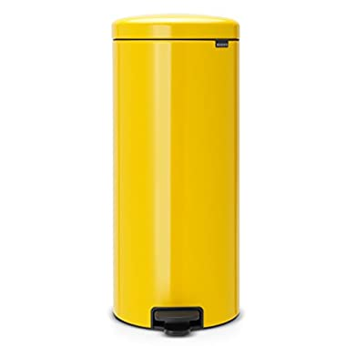 Brabantia Step Trash Can newIcon with Plastic Inner Bucket, 8 Gal. - Daisy Yellow