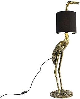 Qazqa Lampadaire | Lampe sur pied Rustique - Reiger Lampe Doré/Laiton Noir - E27 - Convient pour LED - 1 x 25 Watt
