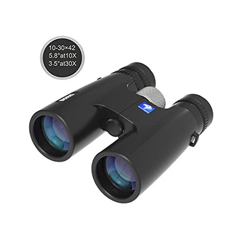 Borio 12x42 Roof Prism Binoculars for Adults with Universal Phone Adapter, HD Professional Binoculars for Bird Watching Travel Stargazing Hunting Concerts Sports (10-30X42 Zoom Binoculars)