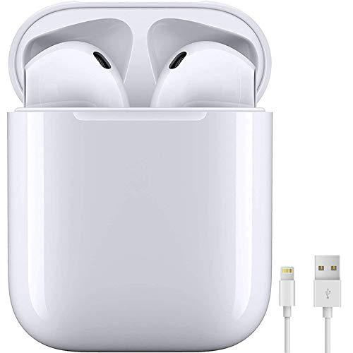 Auriculares Bluetooth 5.0 Auricular Inalámbrico In-Ear Auriculares Micrófono de Reducción de Ruido Incorporado y Caja de Carga Rápida 3D Estére IPX7 Impermeables,para iPhone/Android/Apple Airpods