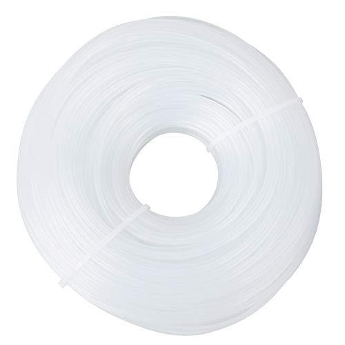 Fdit 3mm x 60m Línea de Corte de Nylon Blanca Redonda para...
