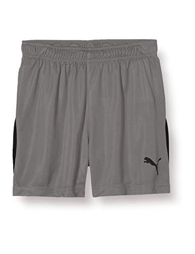 Puma Liga Kinder, Pantaloncini Unisex Bambini, Grigio (Steel Gray/Black), 128