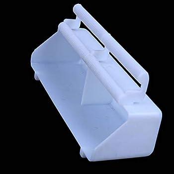 Lecez Alimentateur de perroquet, nouveau boîtier de nourriture Grande pendaison huit accessoires de la cage de myna, grand bol de nourriture d'oiseau suspendu dans la boîte à manger, belle, blanche, 2