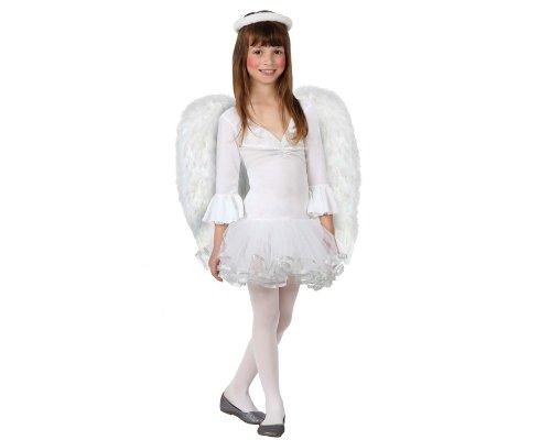 Atosa-17270 Atosa-17270-Disfraz De Angel niña infantil-talla 5 a 6 años blanco-Navidad, color (17270)