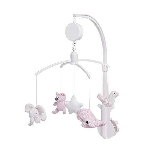 Baby's Only - Muziekmobiel classic roze/baby roze/wit