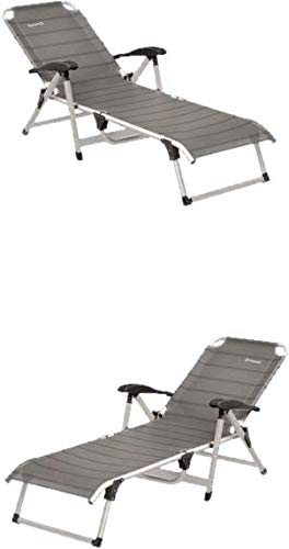 Sol 72 Outdoor Anthracite Reclining Single Sun Lounger With Armrest