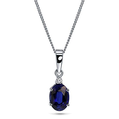 Miore collar en oro blanco de 9 kt 375 con piedra preciosa talla oval y diamante naturale talla brillante