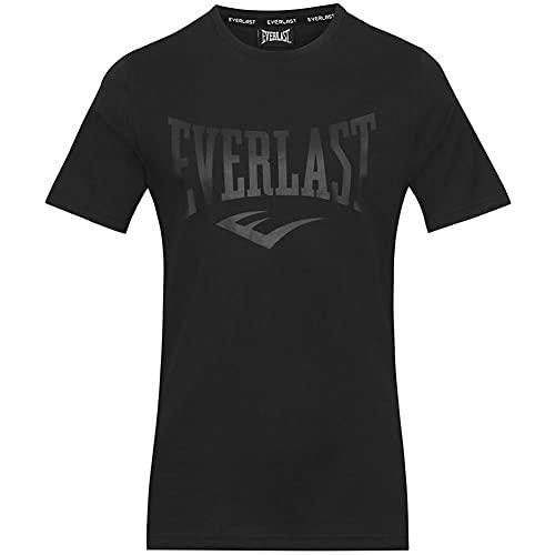 Everlast Russel Logo T-Shirt (M, Black/Black)