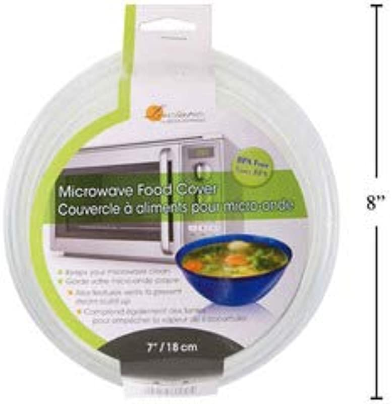 Mini Microwave Plastic Food Cover Safer More Convenient New Microwave Lid Prevent Splatter Cover 7inch Plate Serving Cover With Steam Vent