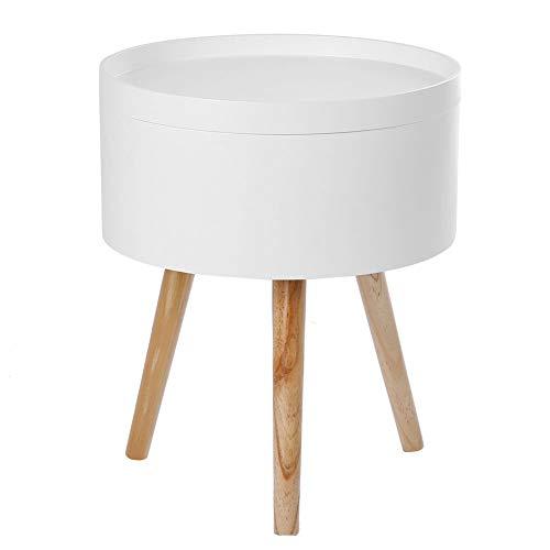 LYN Table D'appoint Table Basse Ronde Latérale De Stockage Solide avec La Conception De Plateau De Table pour Le Bureau à La Maison De Chambre à Coucher De Salon 38 * 45cm