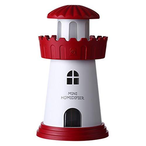 Luchtbevochtiger nachtlampje, 150 ml luchtbevochtiger voor nachtlichtmodus, stroomvoorziening via USB, continu spuiten voor 4 uur.