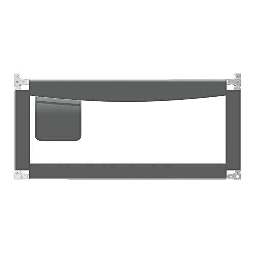 LLAAYY Barrières Barrière de lit Safety 1st Portable, Gris foncé (Size : L-180cm)