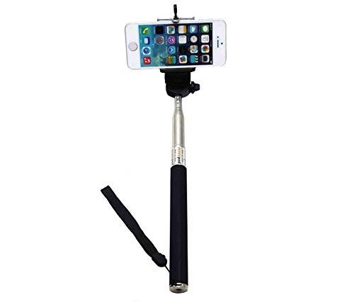 C63® zwarte uitschuifbare Selfie Stick. Zelfportret Handheld Monopod met Verstelbare Telefoonhouder voor iPhone 5, 5S 6, 6 Plus, Samsung S4, S5, Note + Bluetooth Draadloze Selfie Afstandsbediening