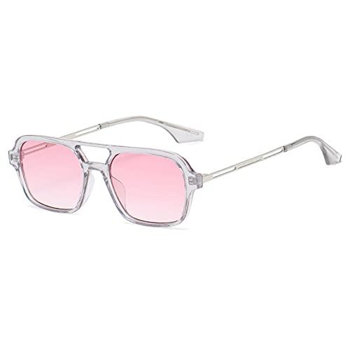 LUOXUEFEI Gafas De Sol Gafas De Sol Cuadradas Mujeres Hombres Viajes Gafas De Sol Rectangulares Pequeñas Mujer