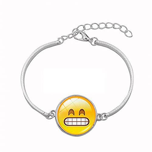 N/A Accesorios para Hombres y Mujeres Accesorios Emoji Pack Time Gem Pulsera de Metal Pulsera de Cristal Pulsera Aniversario Día de la Madre Regalo de cumpleaños de Navidad