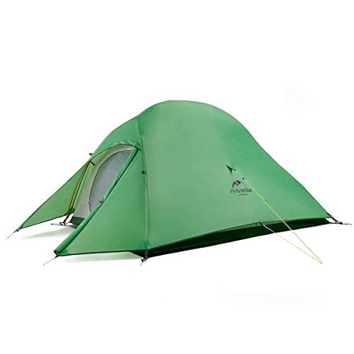 Naturehike Cloud-Up 2 Person Lightweight Backpacking Waterproof Tent Easy Setup - 4 Season for Outdoor Camping,Backpacking,Hiking,Mountaineering Travel(Green(210T Polyester))…