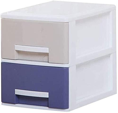 Organizador para el Escritorio Archiveros Verticales 2 cajones de Almacenamiento de Datos compartida Gabinete Ropa Caja de Almacenamiento Multicolor de Armario de plástico (Size : Medium)