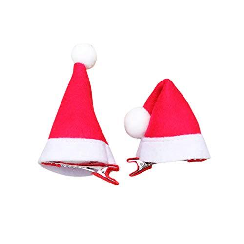 Beaupretty 20 Stück Weihnachten Haarspangen Weihnachtsmütze Haarspangen Haarnadeln mit Krokodilklemme rot Party Haarschmuck für Kinder Jugendliche Kleinkinder