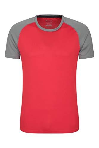 Mountain Warehouse Endurance Herren-T-Shirt - atmungsaktiv, UPF-30-Schutz, leichtes, bequemes und schnell trocknendes Oberteil - für Fitnessstudio, Reisen, Wandern Grau XL