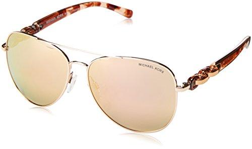 Michael Kors Pandora Gafas de sol, Rose Gold 1130R1, 58 Unisex-Adulto