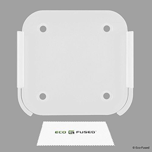 Eco-Fused Wall Mount Compatible with Apple Airport Express [2nd Generation] and Apple TV [2nd + 3rd Generation] - Holder Bracket Frame Easy to Install