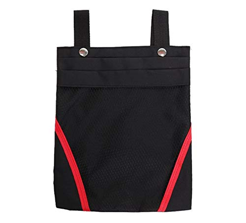 SHENGHUI Bolsa de almacenamiento eléctrica para motocicleta, batería de coche, almacenamiento de bicicletas, bolsa pequeña, bolsa frontal de bicicleta (color negro, rojo, tamaño: 1,5 L)