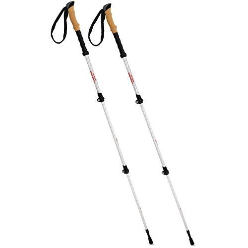Cascade Mountain Tech Trekking Poles - Carbon Fiber Walking or Hiking Sticks with Quick Adjustable Locks (Set of 2)