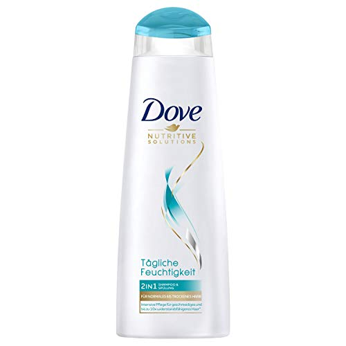 Dove Nutritive Solutions 2in1 Shampoo & Spülung, für normales bis trockenes Haar, Tägliche Feuchtigkeit Shampoo und Spülung, 250 ml, 1 Stück