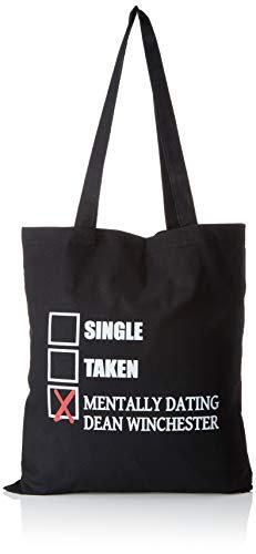 TEXLAB - Mentally Dating Dean Winchester - Stoffbeutel, schwarz