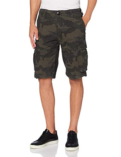 Brandit Herren Vintage Basic Shorts, Dunkles Camouflage, XL