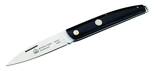 Puma IP Erwachsene armino Negro Taschenmesser, Stahl ACX-380, Schwarze Kunstharzschalen, IP-Emblem, Riemenöse Messer, Mehrfarbig, One Size