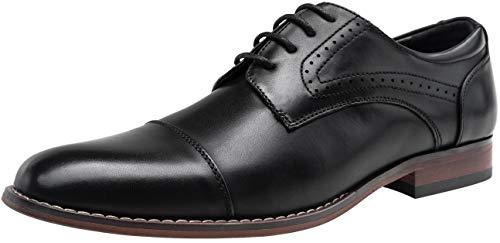 VOSTEY Men's Dress Shoes Classic Derby Wingtip Brogue Men Oxfords