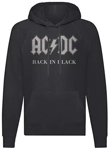 LaMAGLIERIA Sudadera Unisex ACDC - AC/DC Back In Black - Sudadera con Capucha Rock Band