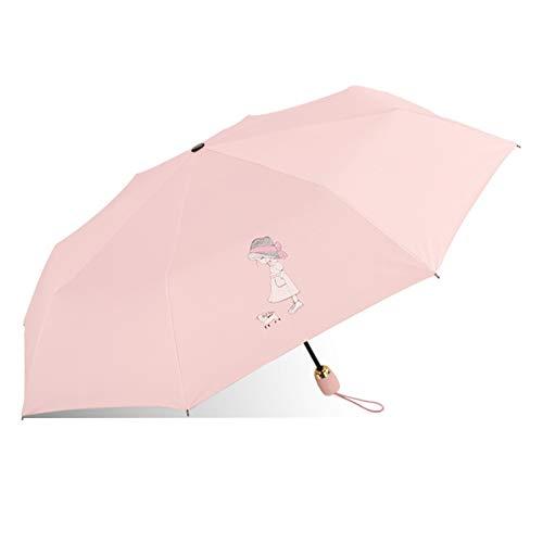 erfgh Paraguas Plegable Completamente automático para Lluvia y Lluvia, sombrilla para Exteriores y sombrilla con protección UV