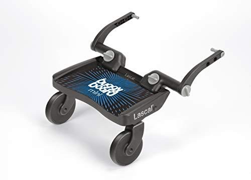 Lascal BuggyBoard Mini, Kinderbuggy Trittbrett mit Stehfläche, Kinderwagen Zubehör für Kinder von 2-6 Jahren (22 kg), kompatibel mit fast jedem Buggy und Kinderwagen, blau