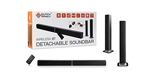 DUTCH ORIGINALS 50 W Bluetooth 4.2 Soundbar, Torenluidsprekers voor TV, home cinema, PC met afstandsbediening, HDMI, AUX, Optisch, 32 inch, zwart