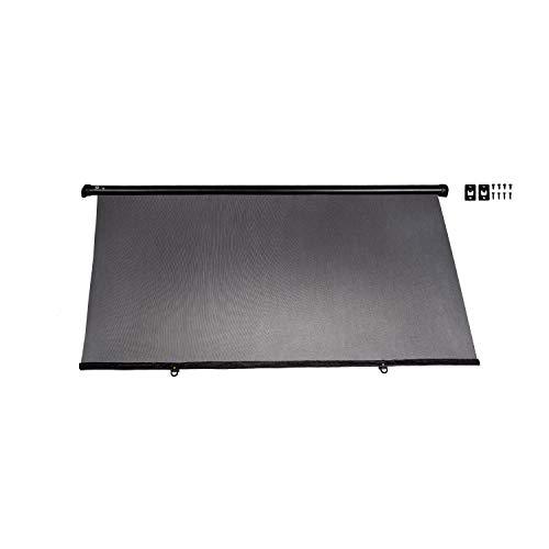 alca® Auto-Sonnenschutz 90 cm zum anschrauben, Autofenster Sonnenblende UV Schutz mit Einhand-Einrollfunktion