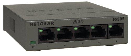 NETGEAR FS305-100PES Fast Ethernet Metallgehäuse Unmanaged Switch (5-Port)