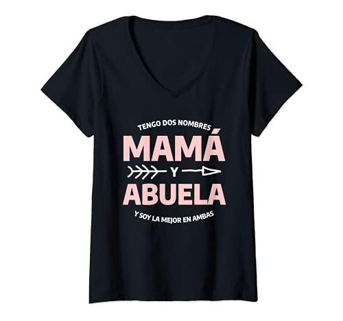 Mujer Cita Divertida De Anuncio De Embarazo Para Una Abuela Camiseta Cuello V