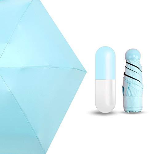 Greatangle-UK Paraguas Unisex portátil de Moda Mini cápsula de tamaño de Bolsillo Protección UV Paraguas pequeño Compacto Plegable para la Lluvia