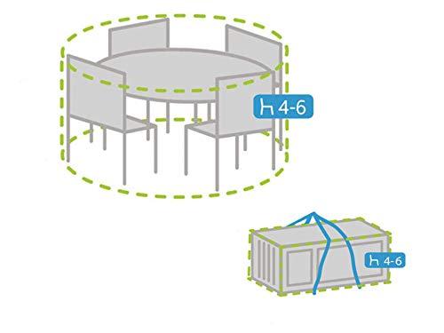 Housse de protection ronde pour meubles de jardin Ø 150 cm + housse pour 4-6 coussins