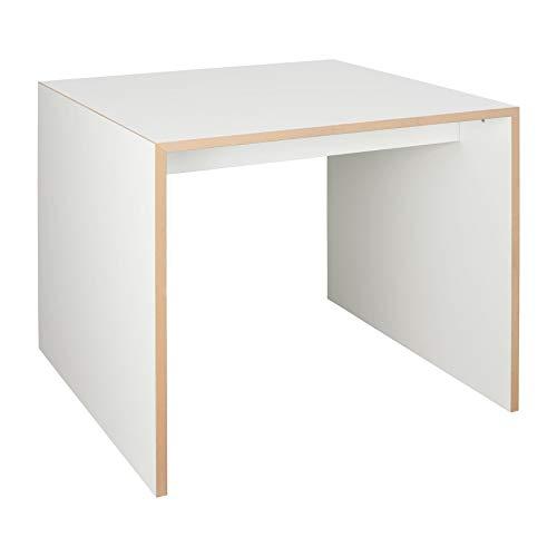 Freistell Tisch klein 80x80cm, weiß LxBxH 80x80x74cm