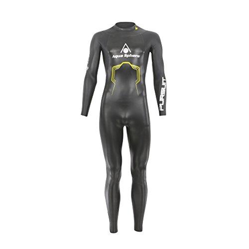 Aqua Sphere, Pursuit, Muta da Uomo per Triathlon, Uomo, SU228, Black/Yellow, XS - Height (150-165 cm
