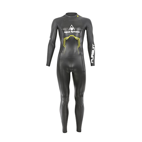 Aqua Sphere, Pursuit, Muta da Uomo per Triathlon, Uomo, SU228, Black/Yellow, XS - Height (150-165 cm