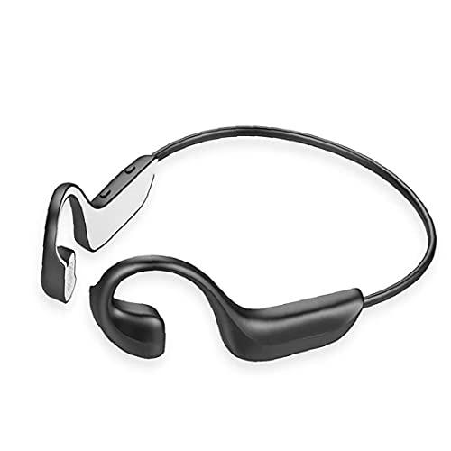 FeelMeet Auriculares de conducción ósea Auricular inalámbrico Bluetooth 5.0 oído Abierto al Aire Libre se divierten los Auriculares para Running Ciclismo Negro